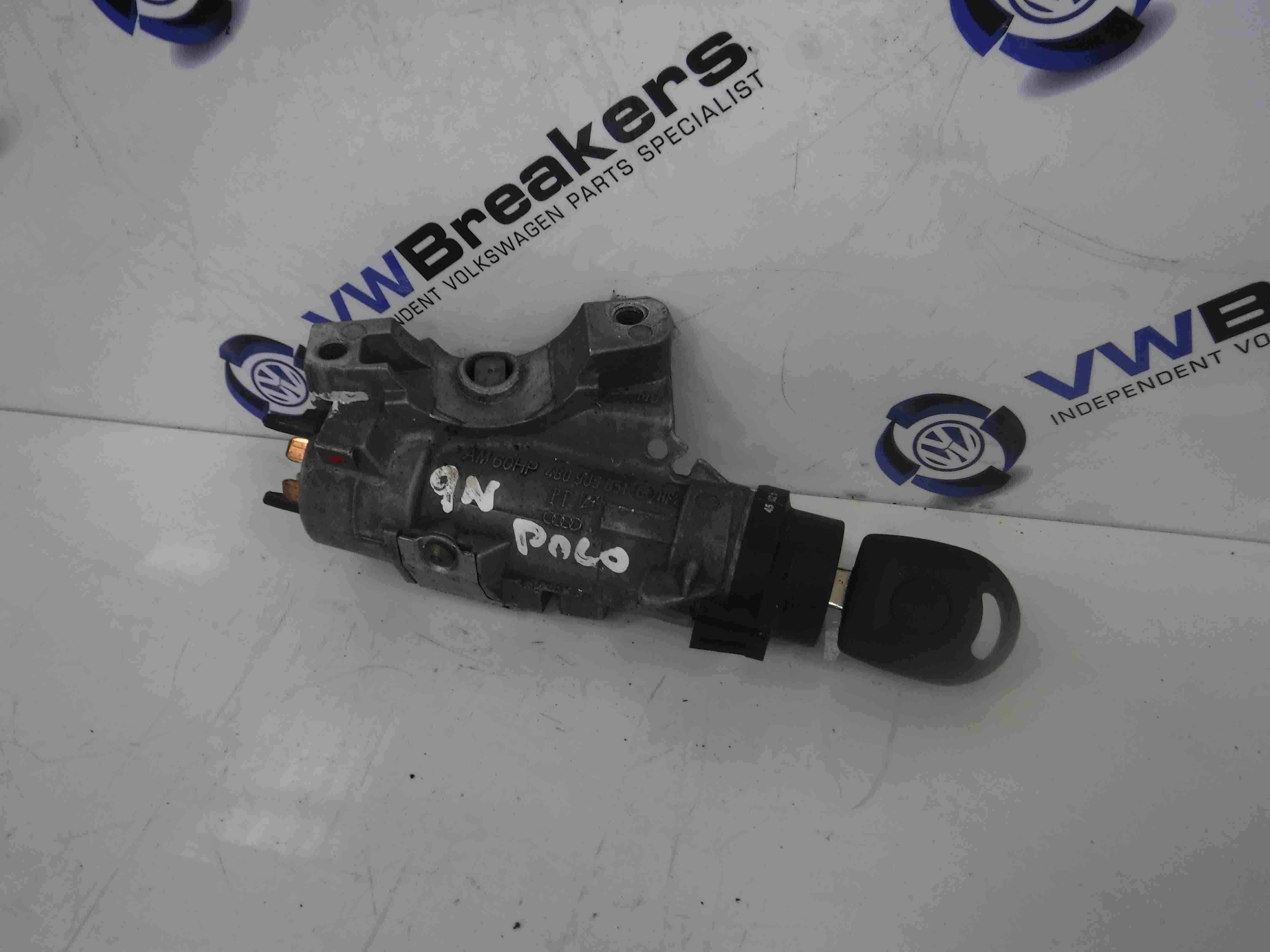 Volkswagen Polo 2003-2006 9N Ignition Barrel + Key 4B0905851G
