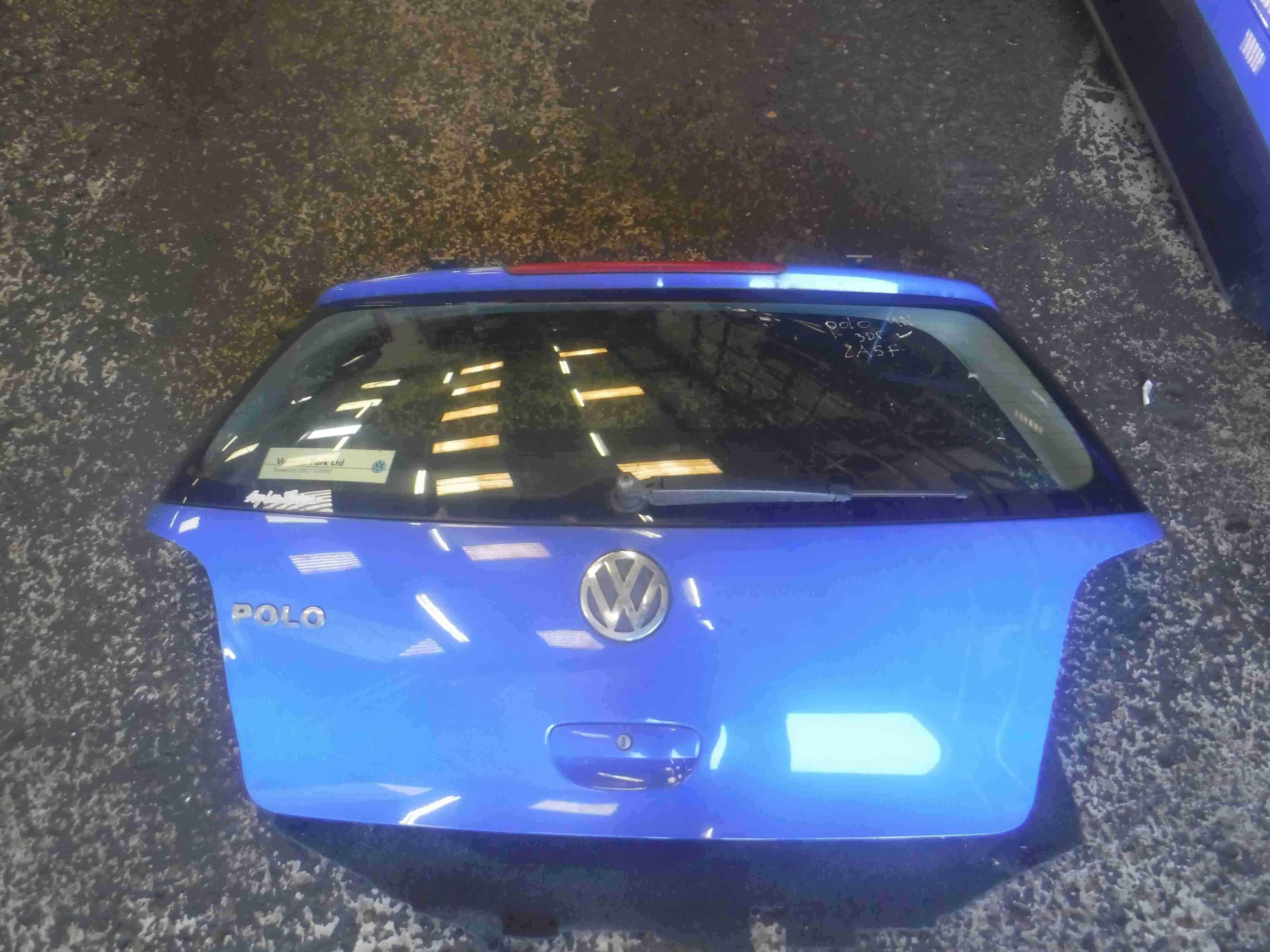 Volkswagen Polo 2003-2006 9N Rear Tailgate Boot Blue LA5F