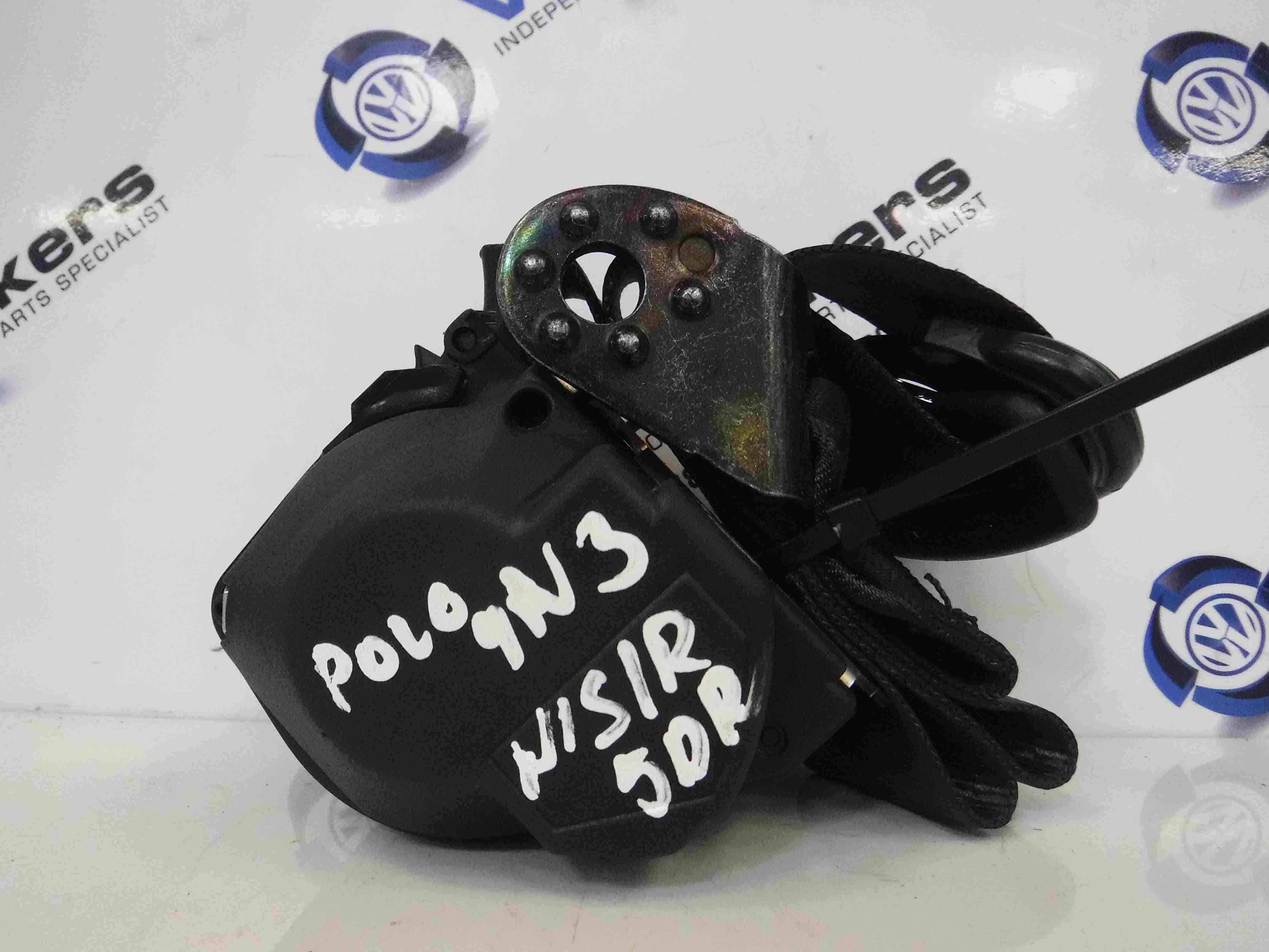 Volkswagen Polo 2006-2008 9N3 Passenger NSR Rear Seat Belt
