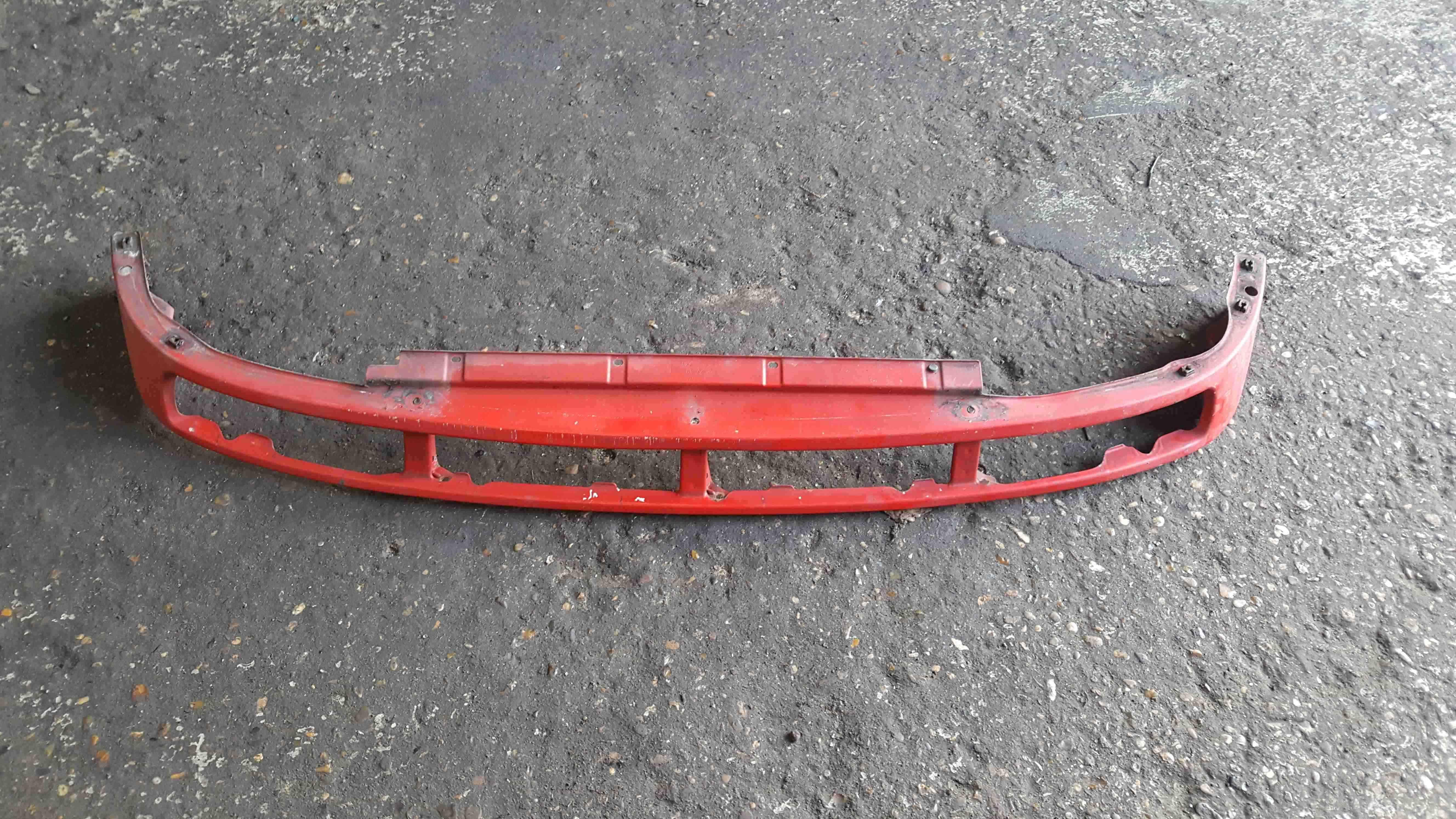 Volkswagen Polo 6N 1995-1999 Front Bumper Lower Metal Red 6N0805592B