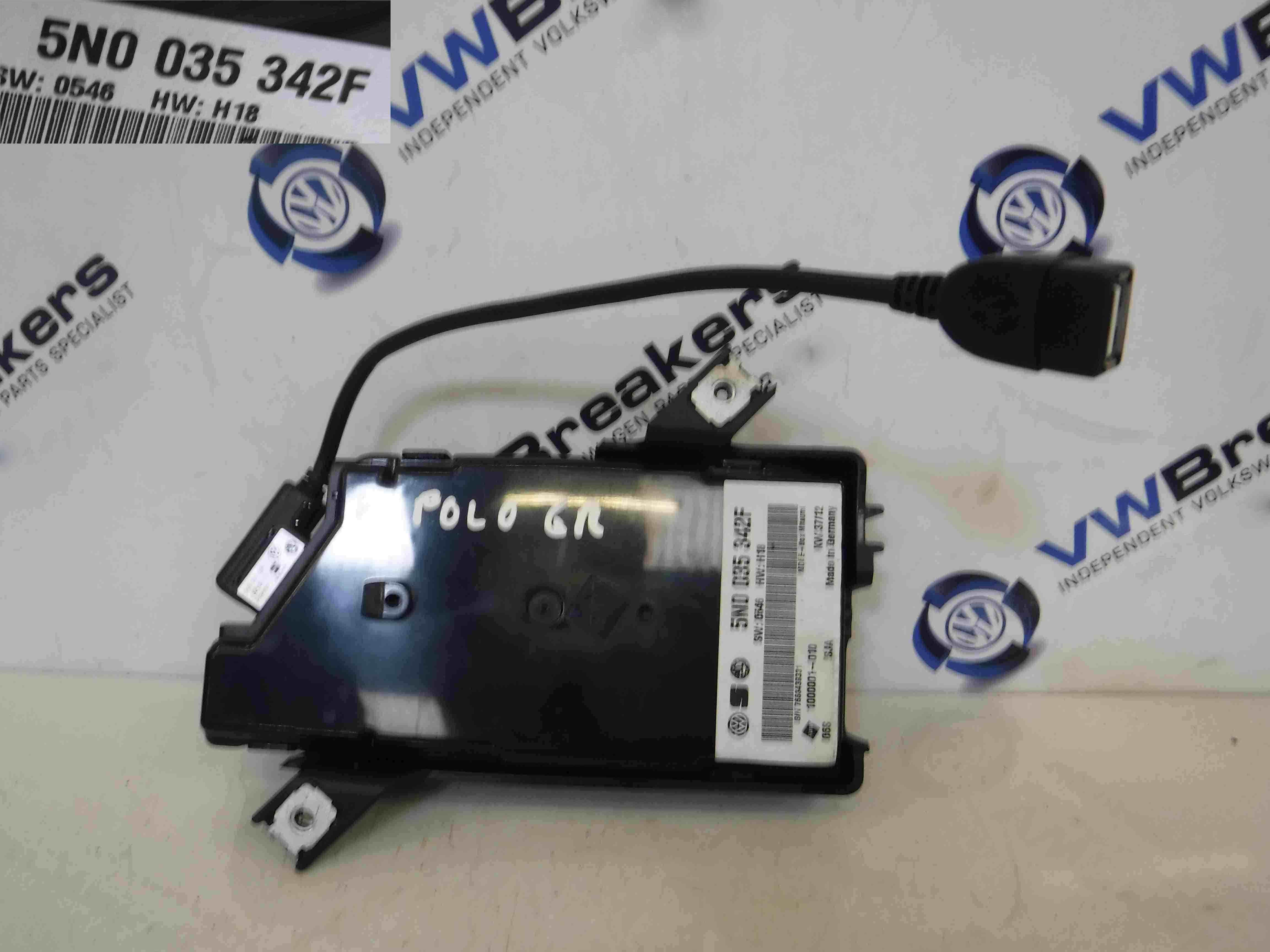 Volkswagen Polo 6R 2009-2015 Multimedia Interface Control Unit 5N0035342F