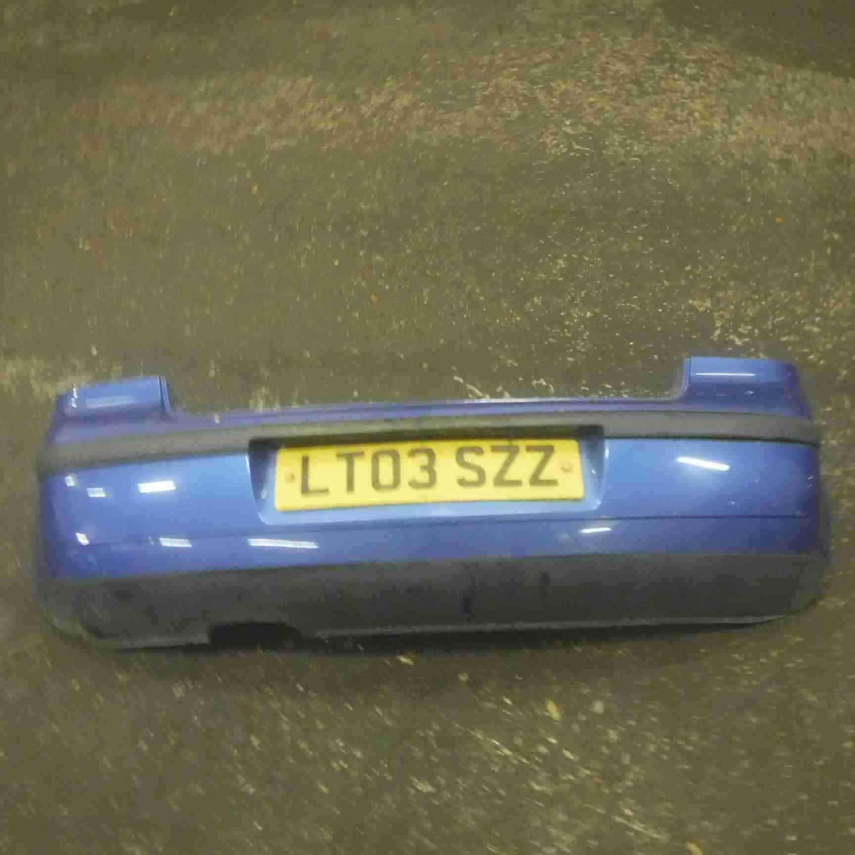 Volkswagen Polo 9N 2003-2006 Rear Bumper Blue LA5M