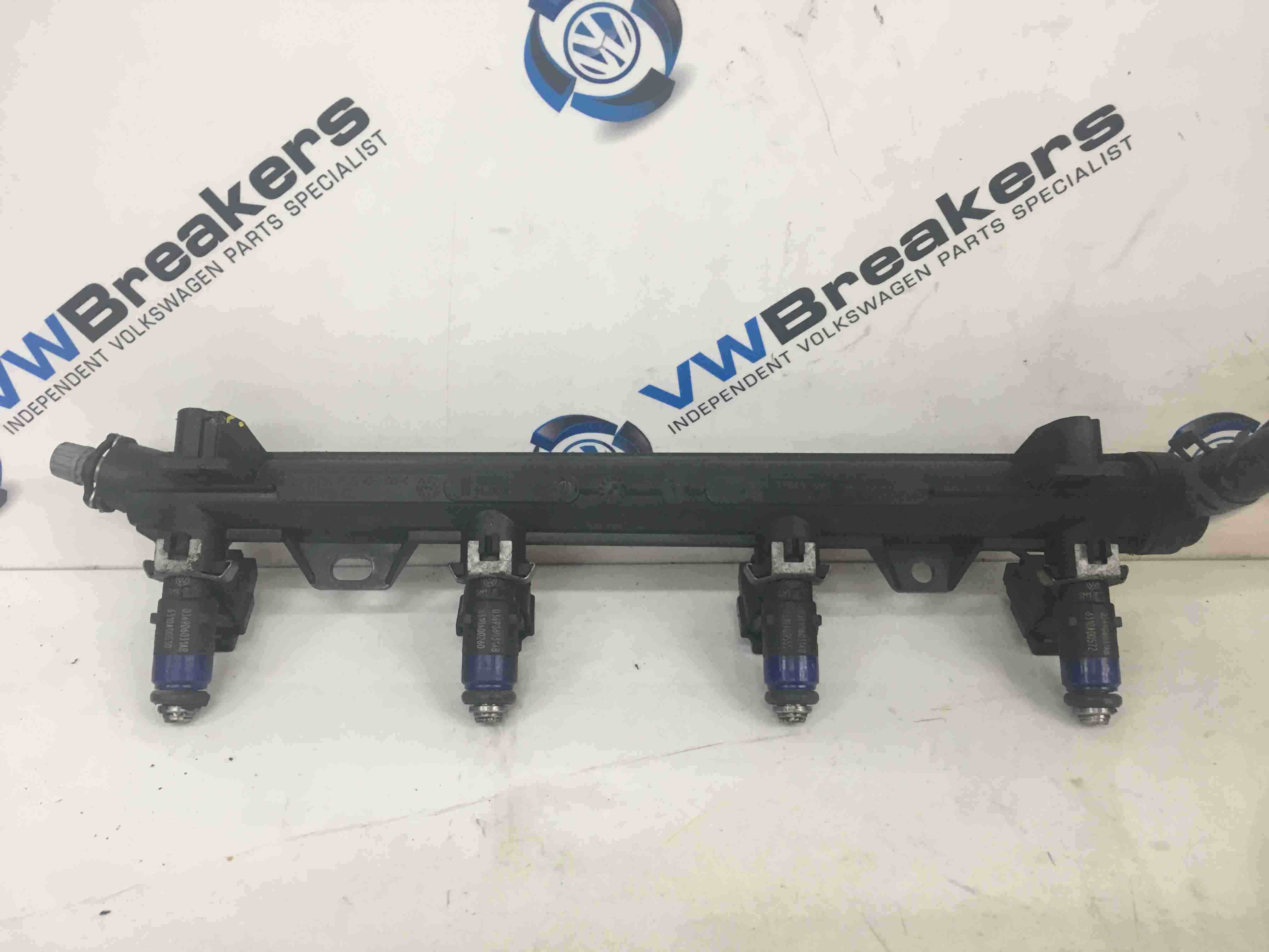 Volkswagen Polo 9N 9N3 2006-2008 1.4 16v Fuel Injectors X4 Rail BKY 036133319CB