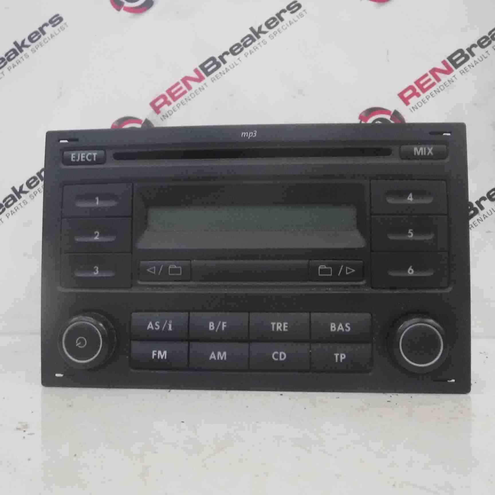 Volkswagen Polo 9N3 2006-2008 Blaupunk Radio Cd Player 6q0035152C 6q0035152A