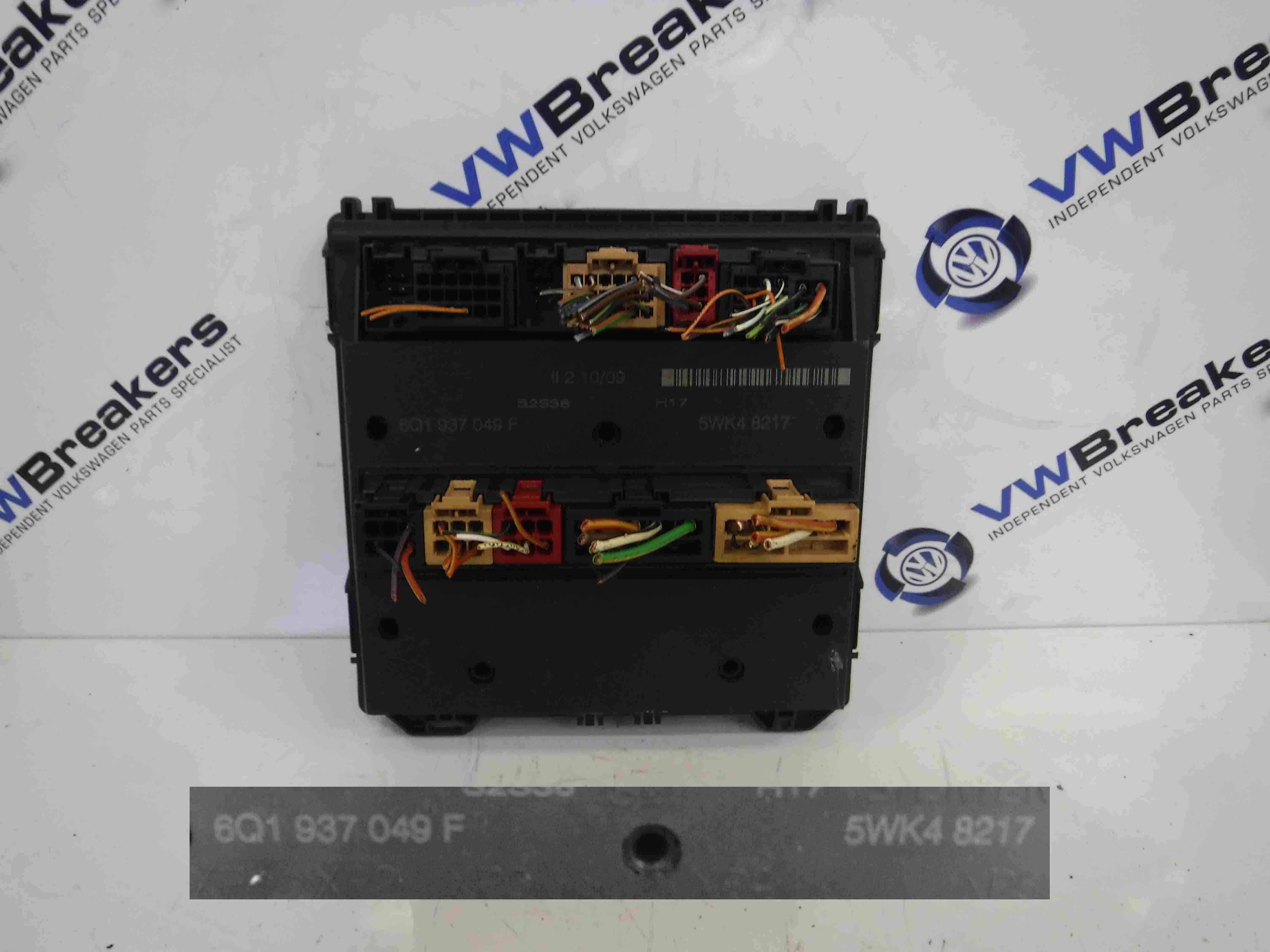 Volkswagen Polo 9N3 2006-2008 Comfort Control Module 6Q1937049F 5WK48217