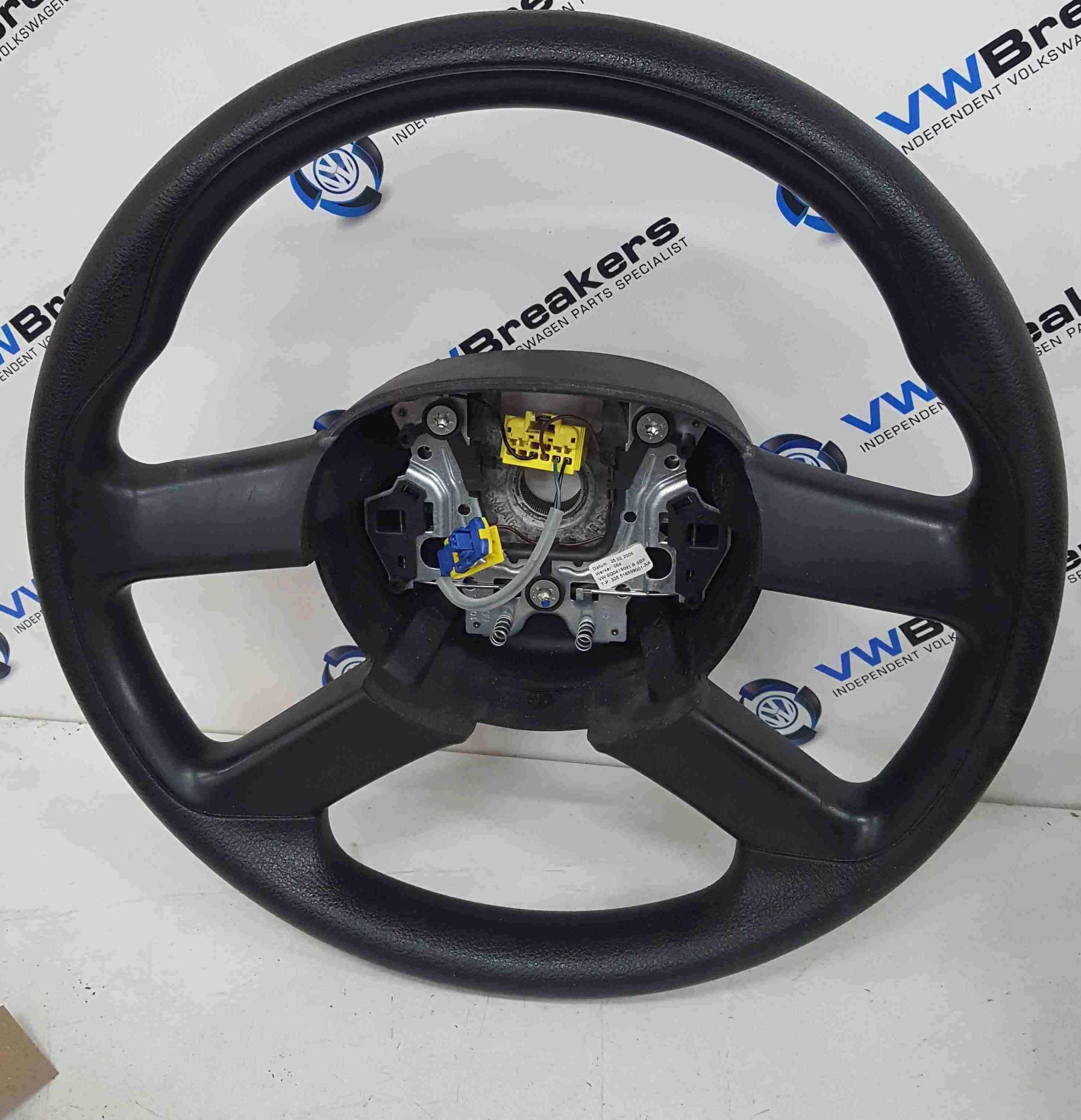 Volkswagen Polo 9N3 2006-2008 Drivers Steering Wheel
