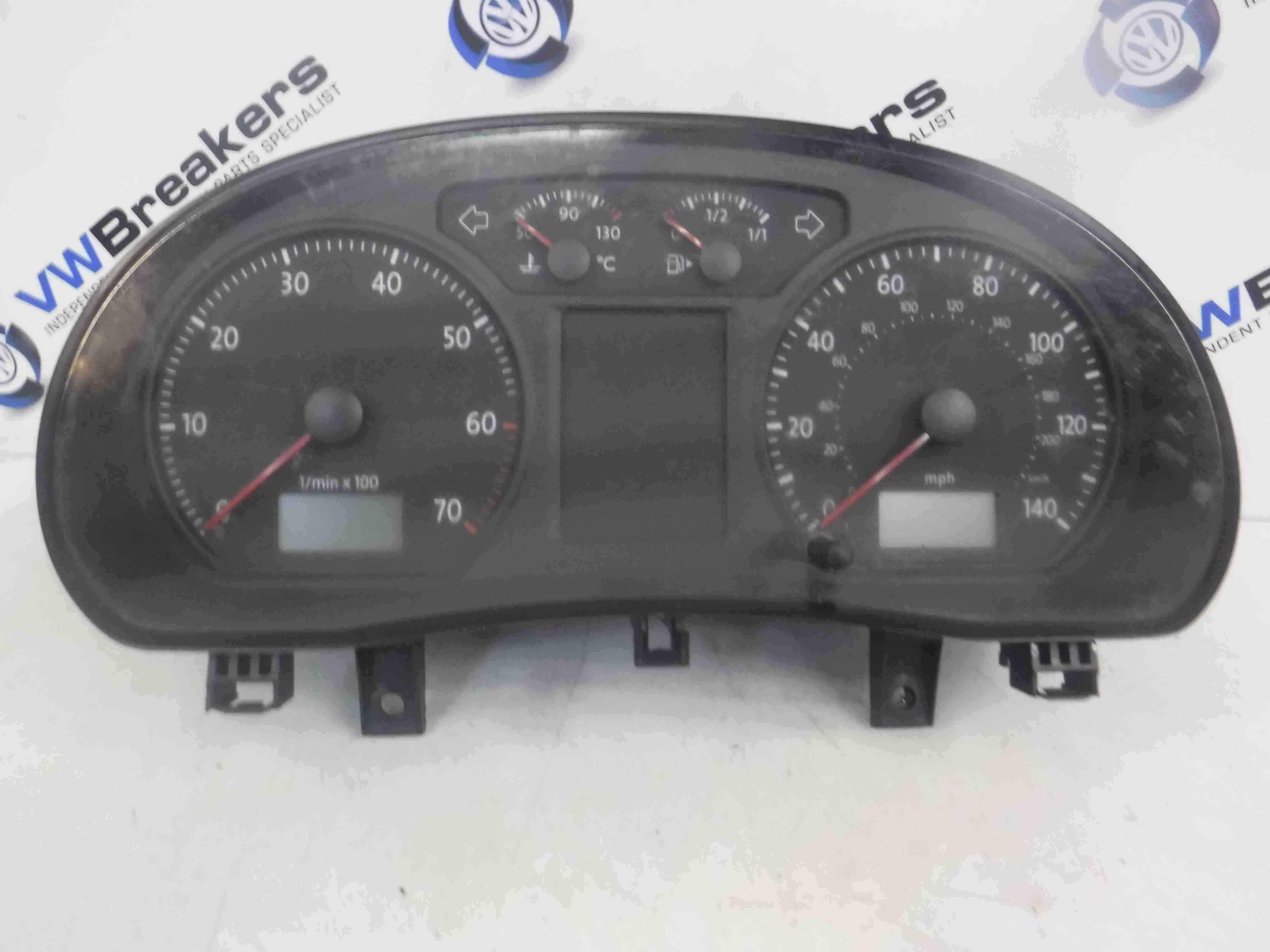 Volkswagen Polo 9N3 2006-2008 Instrument Panel Dials Clocks Cluster 93K