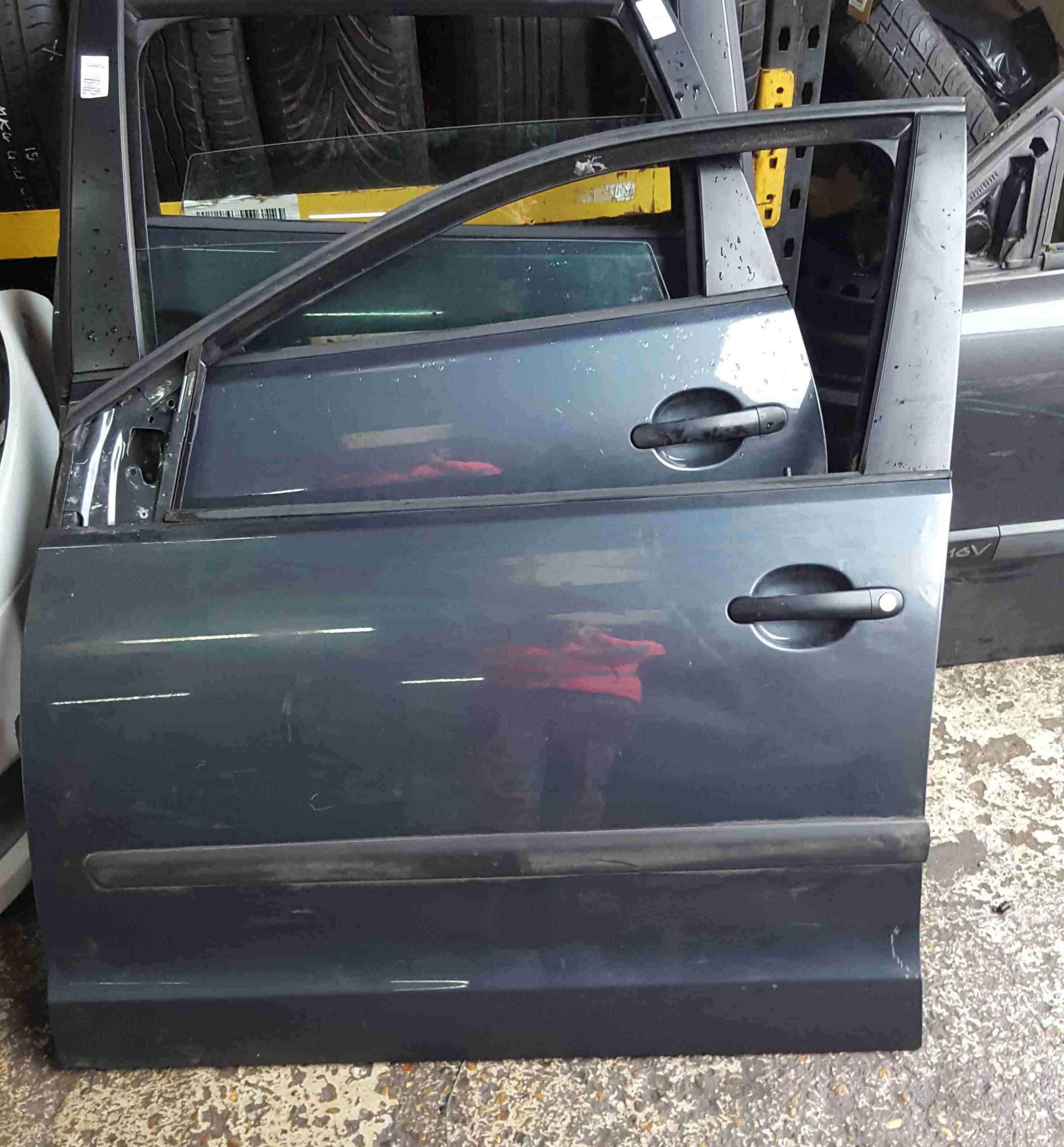 Volkswagen Polo 9N3 2006-2008 Passenger NSF Front Door Grey Blue LC7V 5door