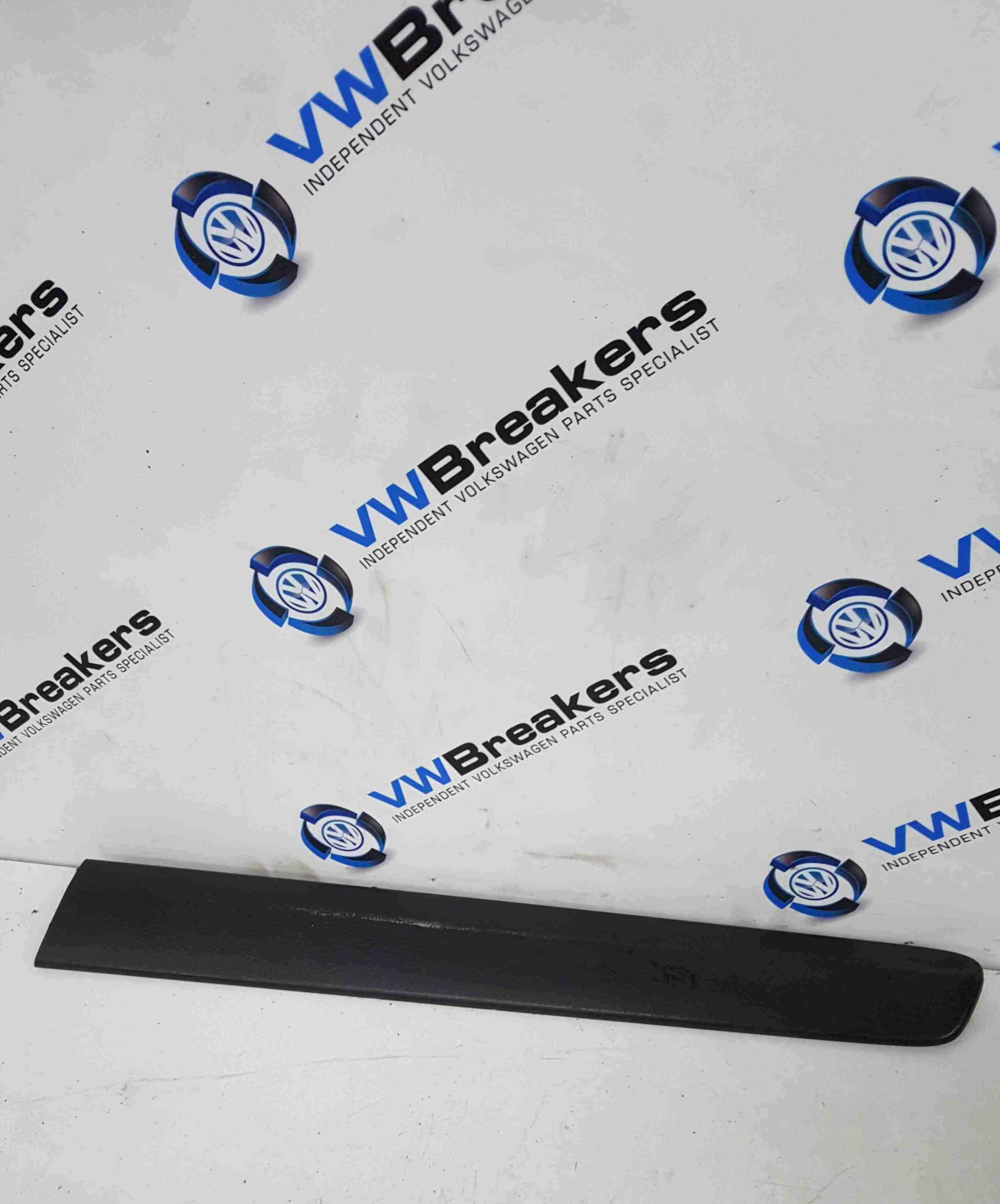 Volkswagen Polo 9N3 2006-2008 Passenger NSR Rear Door Moulding Trim Black 3dr