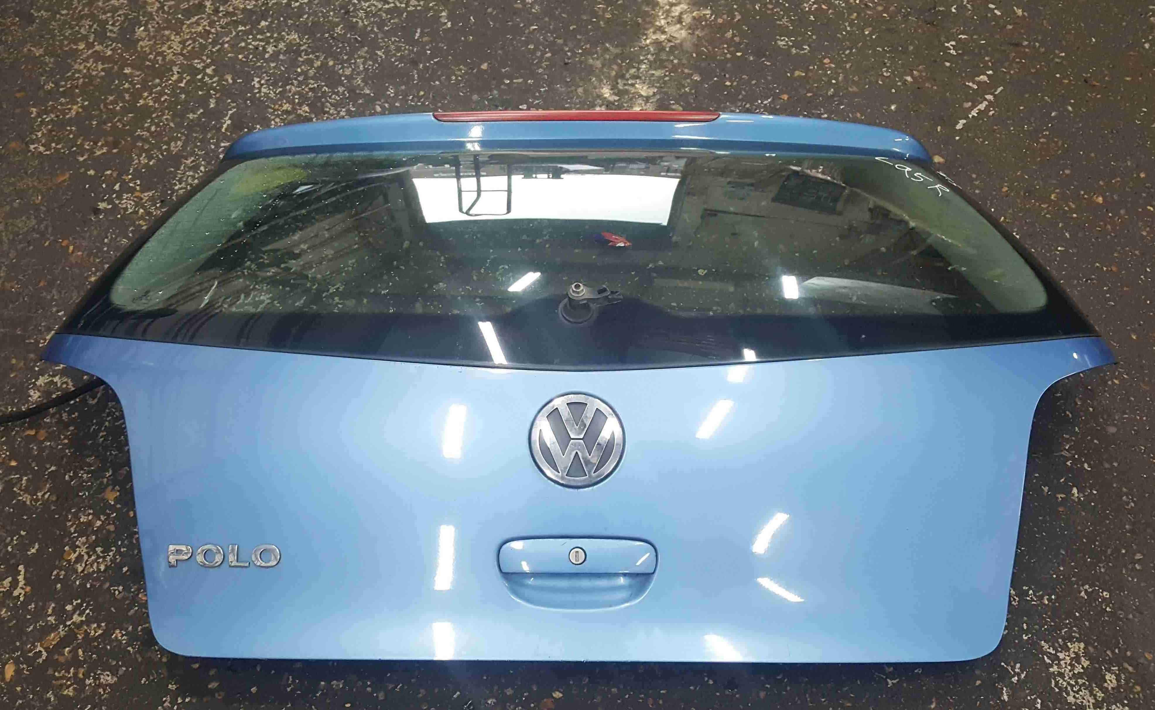 Volkswagen Polo 9N3 2006-2008 Rear Tailgate Boot Blue LA5R