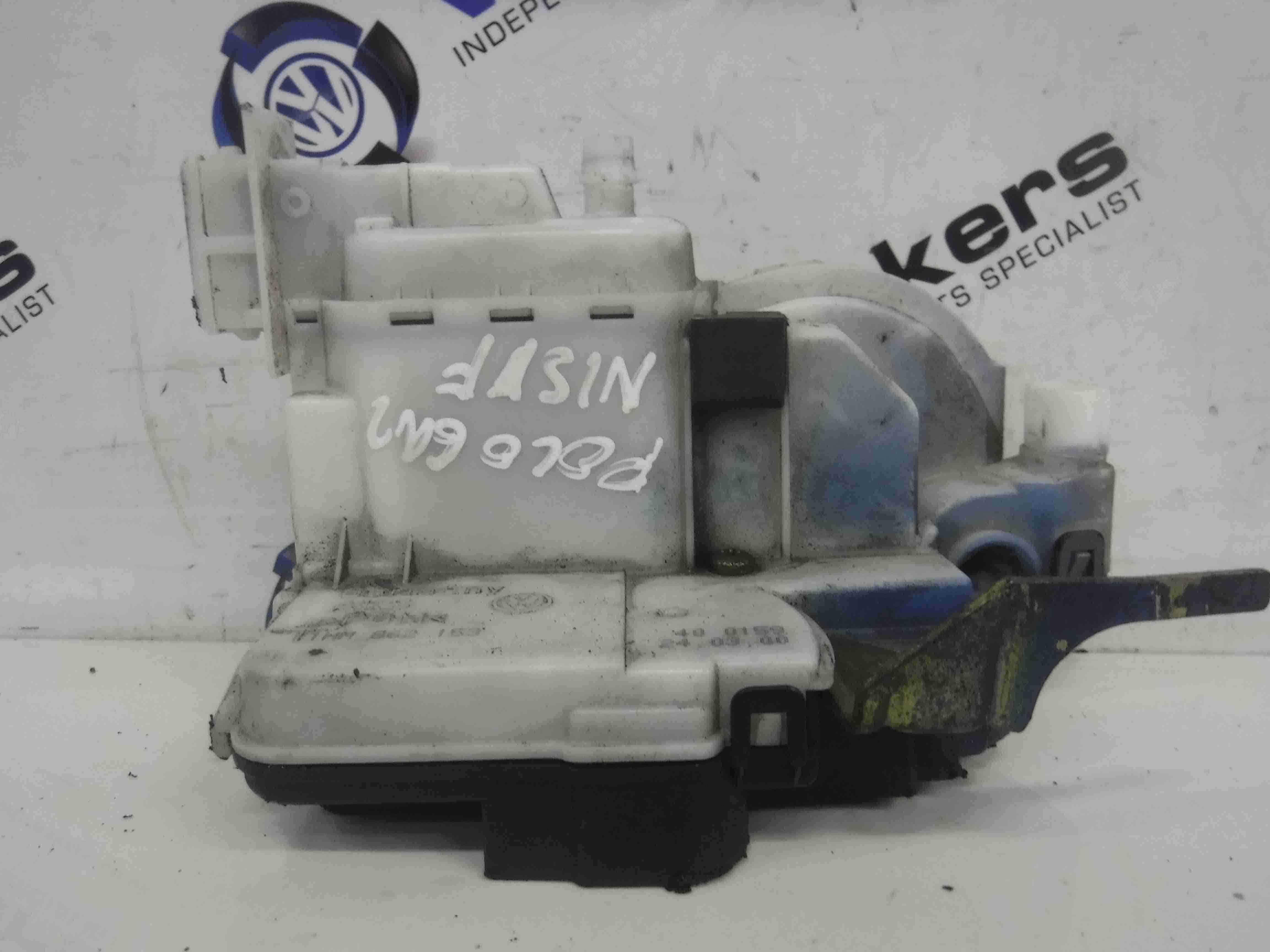 Volkswagen Polo Saloon 1999-2003 6N2 Passenger NSF Front Door Lock Mechanism