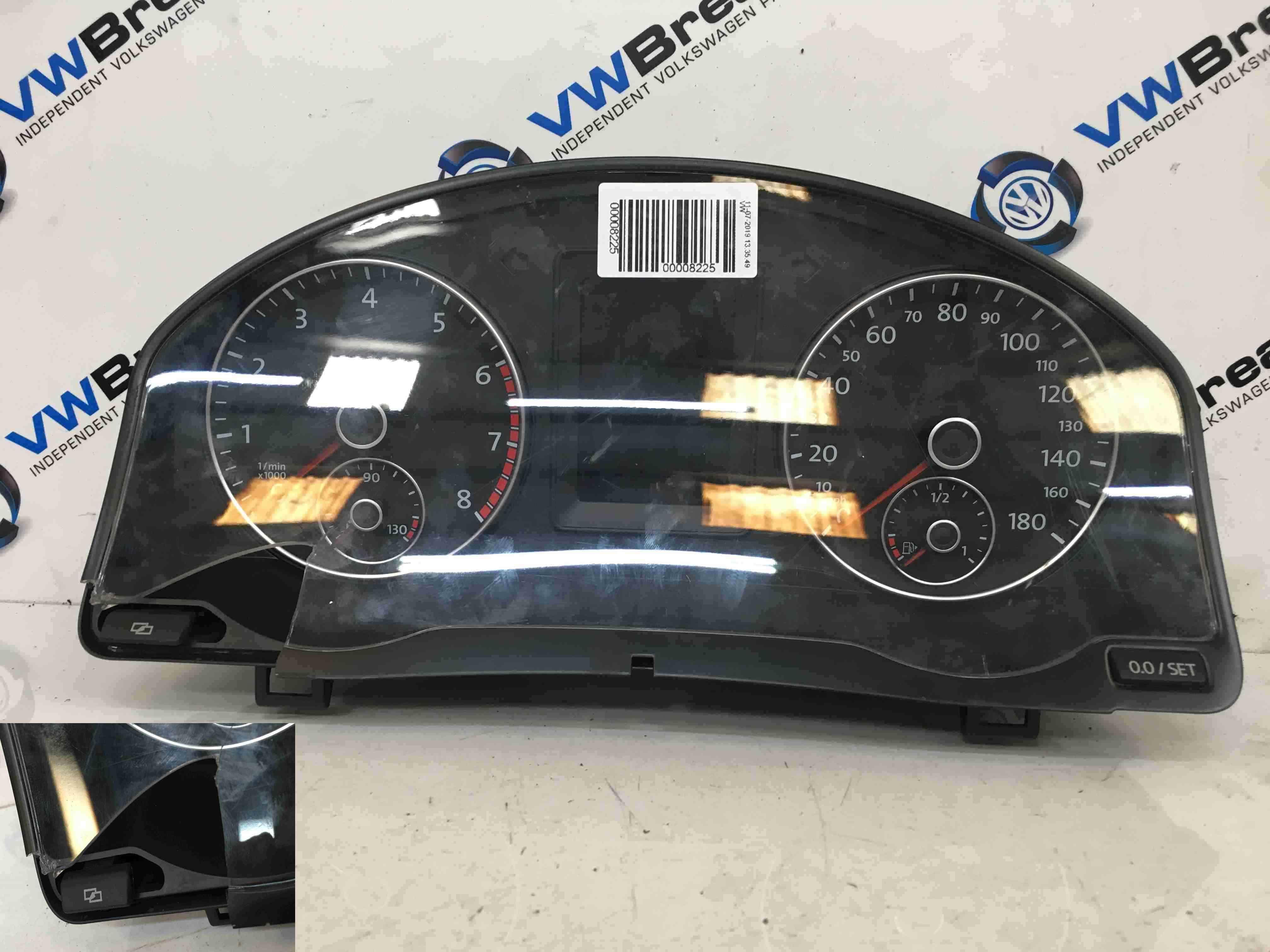 Volkswagen Scirocco 2008-2014 Instrument Panel Dials Gauges Cluster Clocks 165k