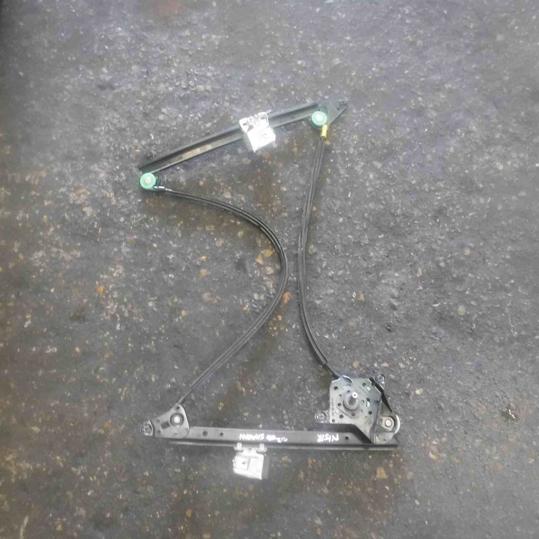 Volkswagen Sharan 2000-2003 Passenger NSR Rear Window Regulator Manual