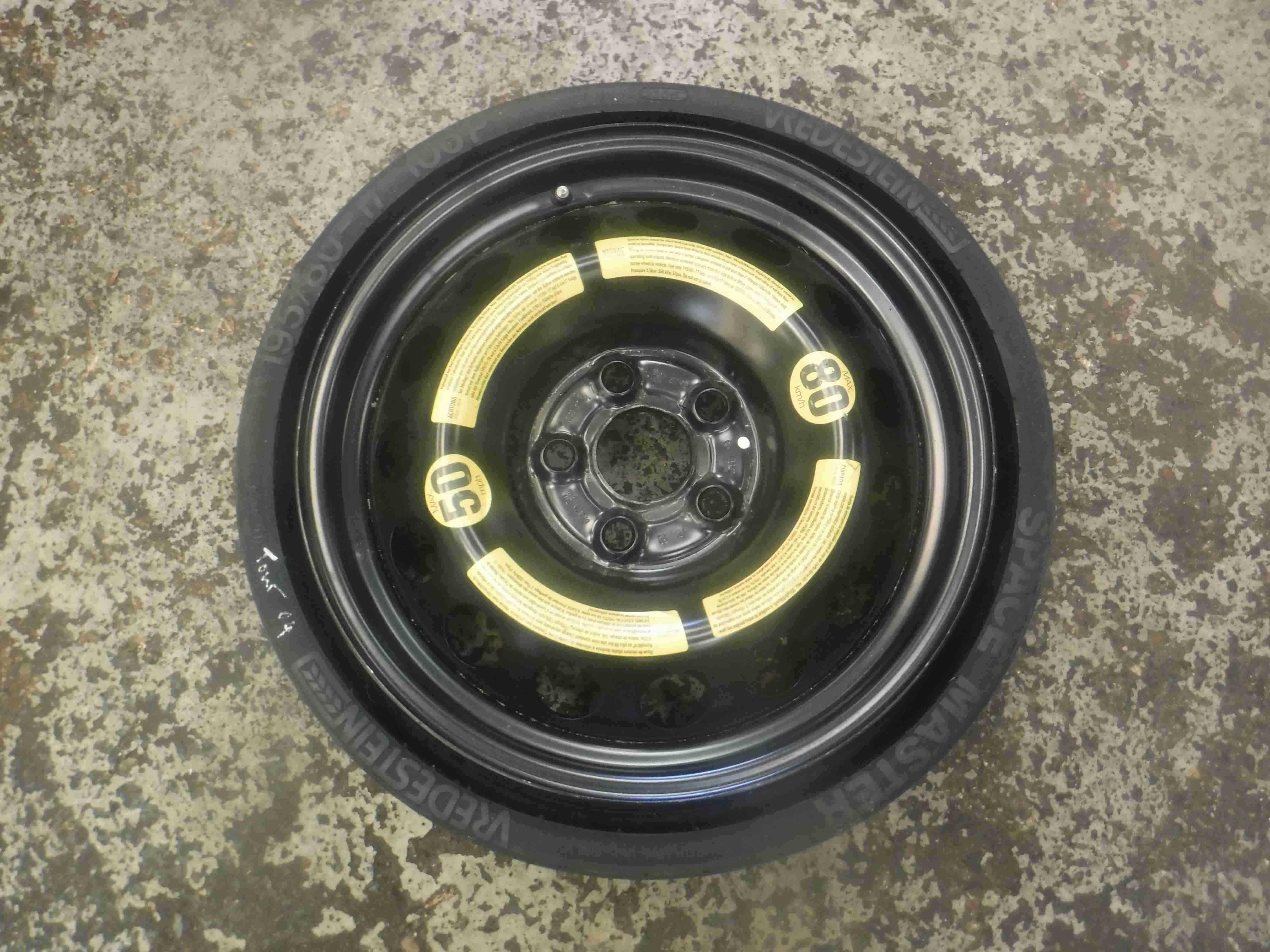 Volkswagen Touareg + Porche Cayenne 2002-2007 Spare Wheel Space Saver 195 80 17
