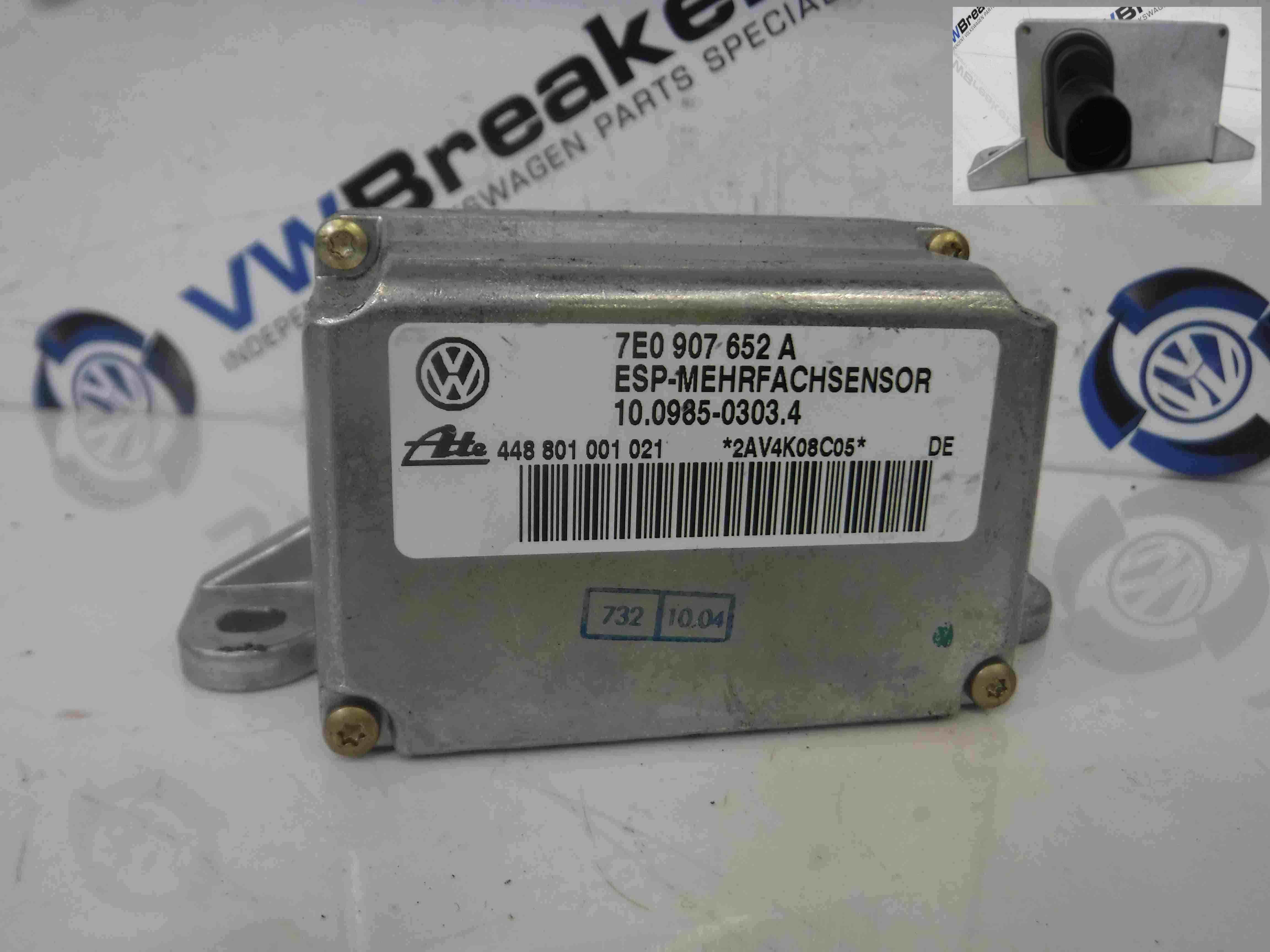 Volkswagen Touareg 2002-2007 Acceleration YAW Sensor 7E0907652A
