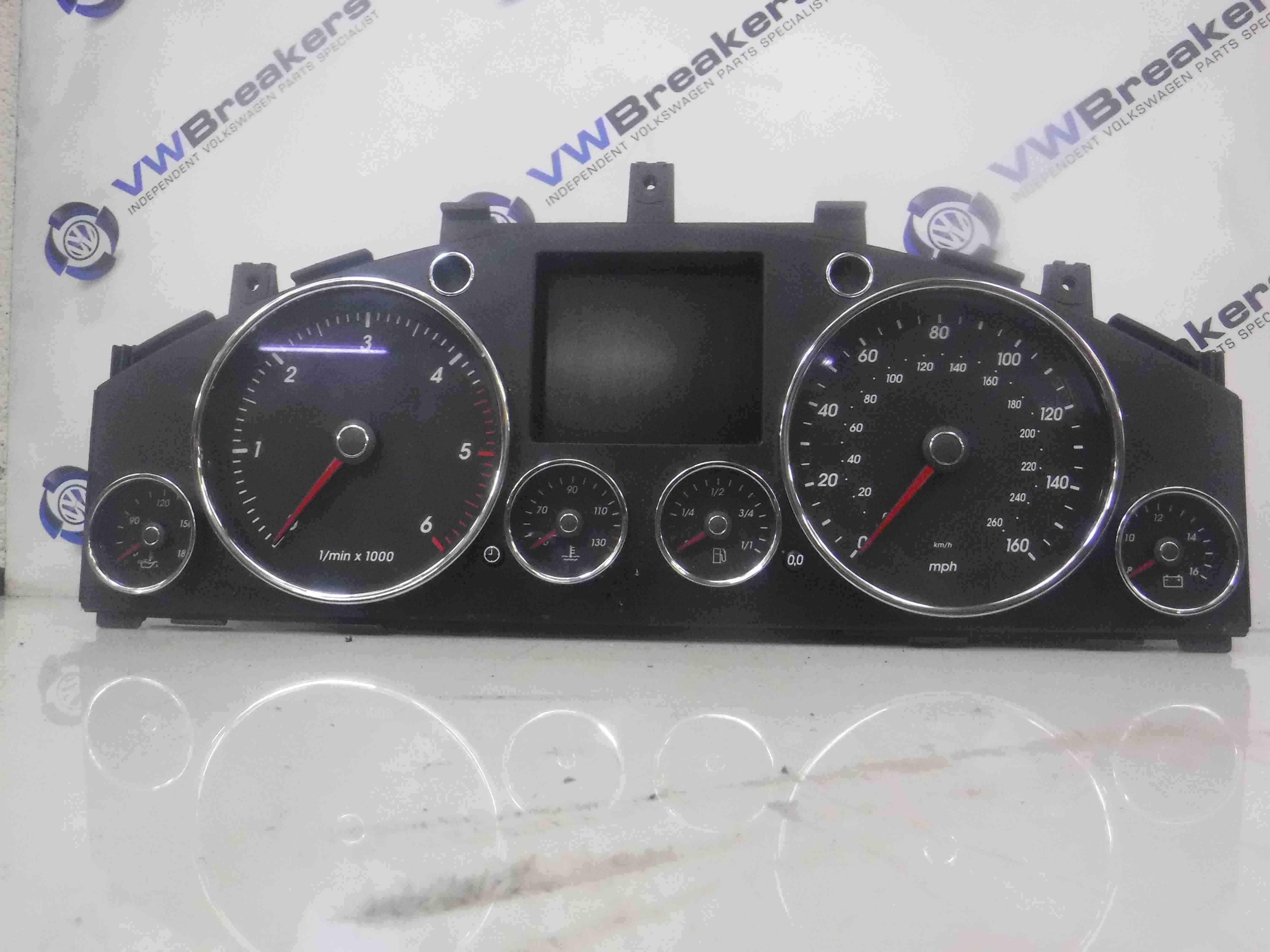Volkswagen Touareg 2002-2007 Instrument Panel Clocks Dials Cluster Automatic