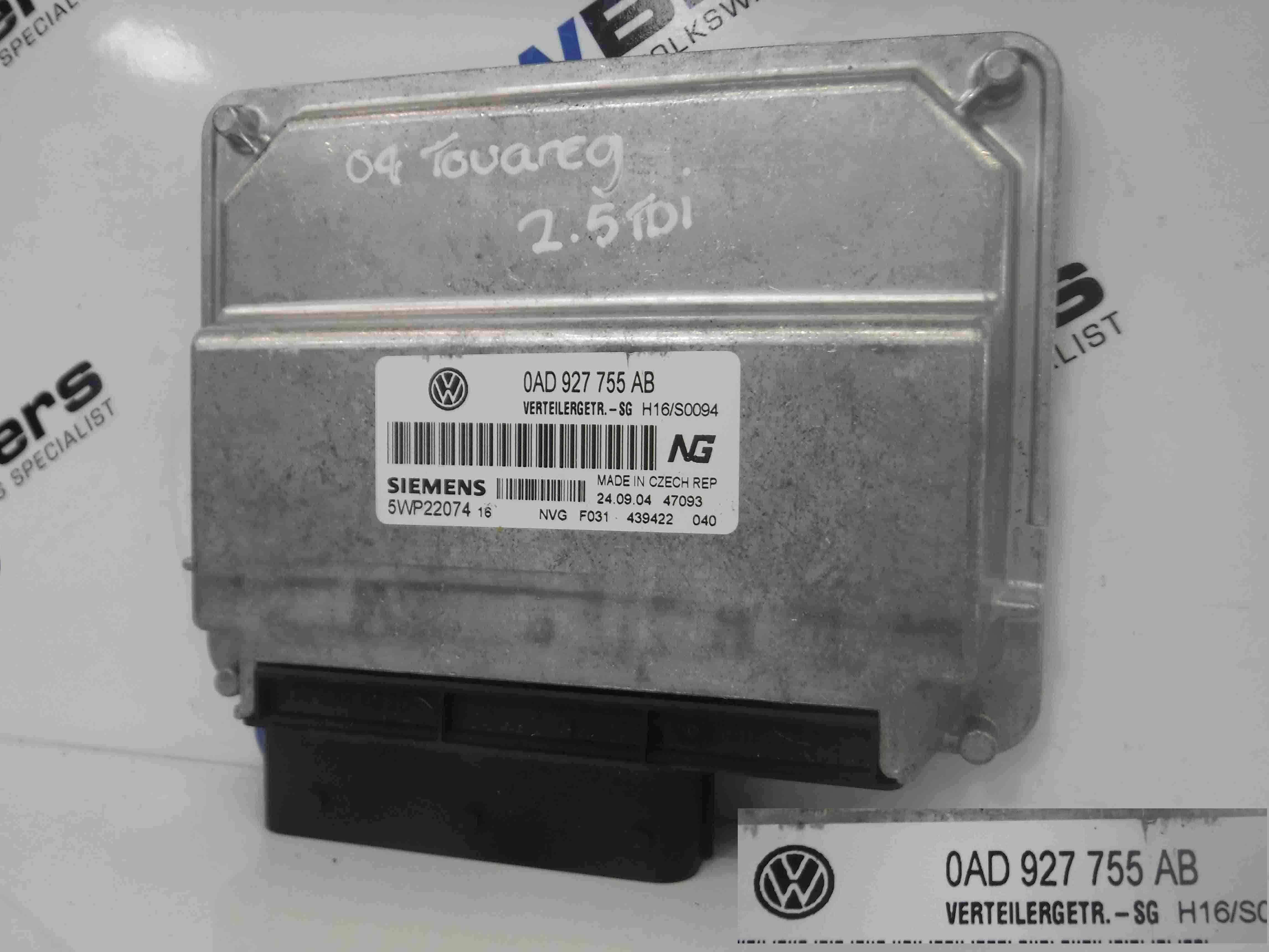 Volkswagen Touareg 2002-2007 Transfer Case Control Module ECU 0AD927755AB